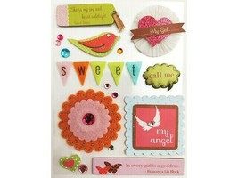 Little Gifts Jeweled, Glittered, Felt, Dimensional Chipboard Stickers #271049