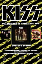 "KISS Band Reproduction ""Dressed To Kill"" Promo Poster Stand-Up Display -... - $16.99"