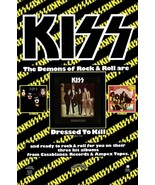 """KISS Band Reproduction """"Dressed To Kill"""" Promo Poster Stand-Up Display -... - $16.99"""