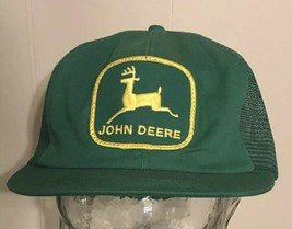 K Products John Deere Patch Hat Snapback Vintage Made In USA Green Truck... - $68.61