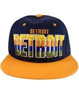 Detroit 4-Color Script Men's Snapback Baseball Caps (Navy/Orange) - $11.95