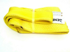 """Stren-Flex Web Sling, Recovery Strap 4' ft x 6"""" in Nylon Yellow Made in USA New image 2"""