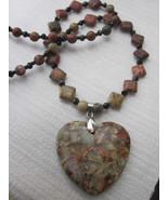 Jasper matrix gemstone necklace - $53.00