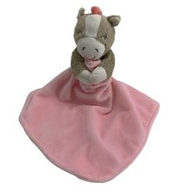 """Carter's Girl Pink Tan Horse Lovey Security Blanket Rattle 2013 13"""" - $4.90"""