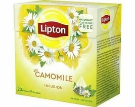 120x Lipton Tea Camomile Herbal = 120 Pyramid Tea/Infusion (6 x 20 Tea Bags) - $20.52