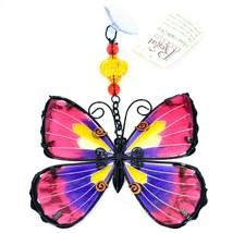 Regal Art & Gift Hand Painted Metal Glass Pink Butterfly Sun Catcher Suncactcher image 2