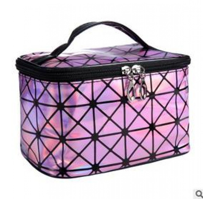 3D Laser Diamond Pattern Cosmetic Bag Holographic Make Up Brush