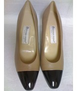 ETIENNE AIGNER MARIETTA TAUPE BLACK TOE LEATHER... - $29.99