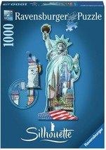 Ravensburger Silhouette Shaped Puzzle Statue of Liberty, New York 1000-P... - $17.77
