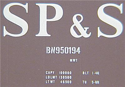 Micro Trains 02000726/20726 SP&S 40' Boxcar 950194
