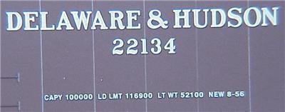 Micro Trains 31070 D&H 50' Boxcar 22134