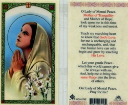 O Lady of Mental Peace Prayer Card - EB044 - Mother of Tranquility and Hope - $2.79