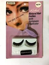 Vtg 1960s Kurlash Natural Hair Lashes Instamatic Applicator Brown Human ... - $23.19