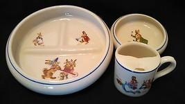 Vintage Tot Trainer Childs Dinner Set Beatrix Potter Porcelain by Dwight... - $55.95