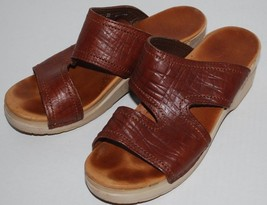Dansko Sandals Womens 8.5 Brown Leather Open Toe Strappy Comfy Summer Sh... - $24.70