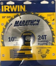 "Irwin Marathon 14233 10"" x 24T Framing / Ripping Thin Kerf Circular Saw ... - $15.84"