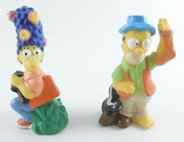 Homer & Marge Simpson CAMPING Figures 1990 The Simpsons Fishing Bird Wat... - $6.92