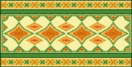 Latch Hook Rug Pattern Chart: Fiesta - EMAIL2u - $5.75