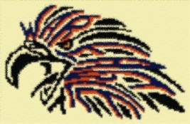Latch Hook Rug Pattern Chart: Auburn War Eagle - EMAIL2u - $5.75