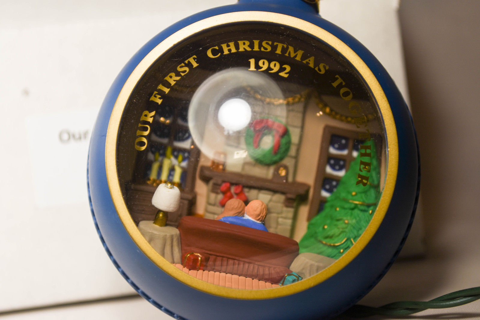 Primary image for Hallmark: Our First Christmas - Magic Light - QLX 722-1 - 1992 Holiday Ornament