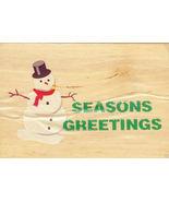 """Seasons Greetings"" Snowman Mounted Rubber Stamp - $5.00"