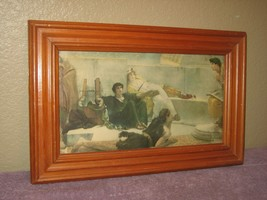 "Grecian Teaching Wood Frame Glass Covered - Painting Print Picture 11"" x... - $11.26"