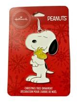 Hallmark Snoopy Woodstock Christmas Tree Ornament Peanuts Metal Lightwei... - $10.88