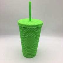 Fall 2021 Grande Starbucks Neon Green Studded 16 Oz Grande Cold Cup Tumbler - $39.59