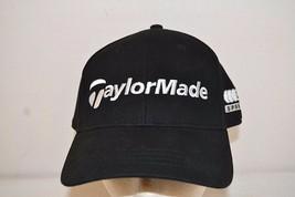Taylor Made Golf Black / White Baseball Cap Buckle Back NWT - $18.99