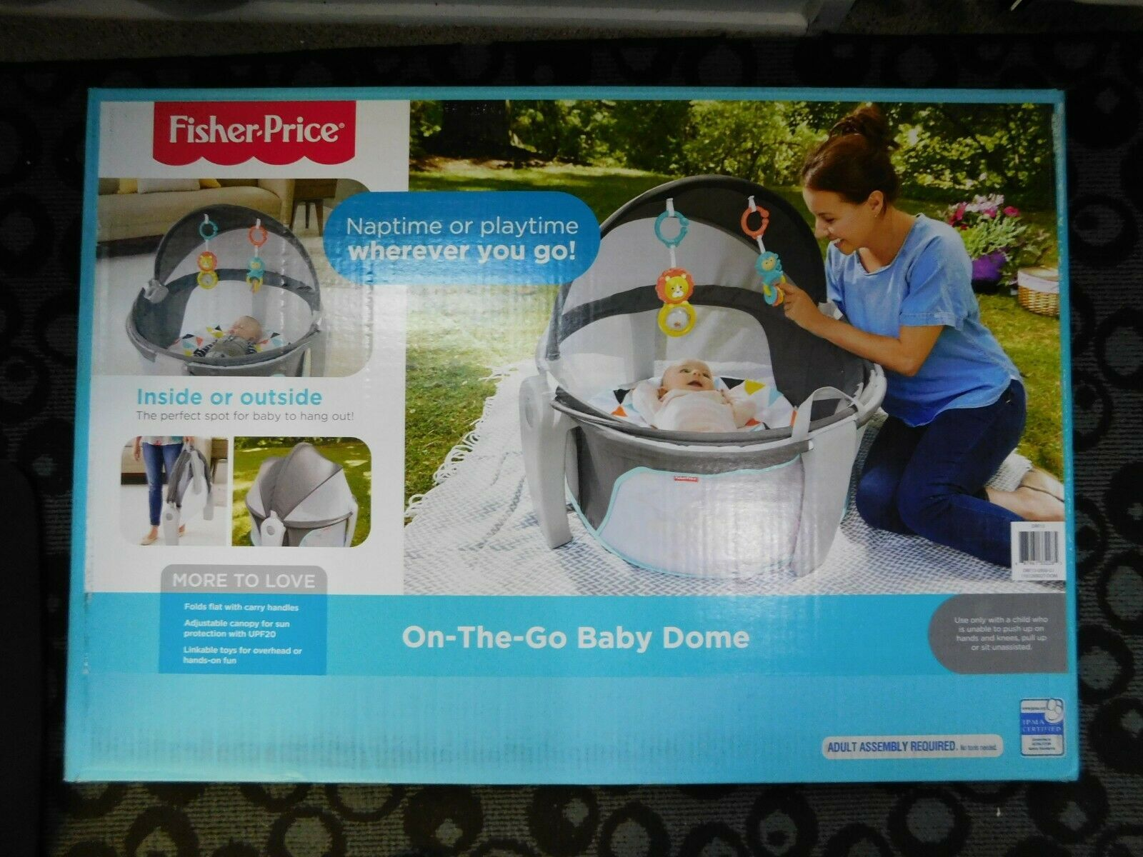 Primary image for Fisher-Price Windmill On-the-Go Baby Dome Baby Tummy Time Portable Play yard New