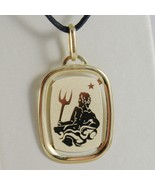 SOLID 18K YELLOW GOLD AQUARIUS ZODIAC SIGN MEDAL PENDANT ZODIACAL MADE I... - €116,47 EUR