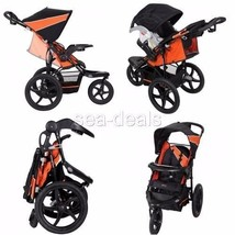 Single Baby Jogger Stroller 3 Wheel All Terrain Lightweight Reclining Cup Holder - $104.60