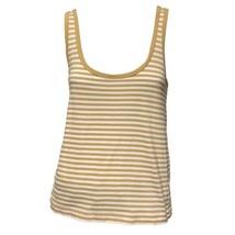 J.Crew Womens Tan White Striped Scoop Neck Casual Tank Top Sz M - $14.85