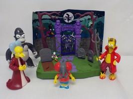ORIGINAL Vintage Simpsons Treehouse Of Horror Springfield Cemetery Figur... - $65.12