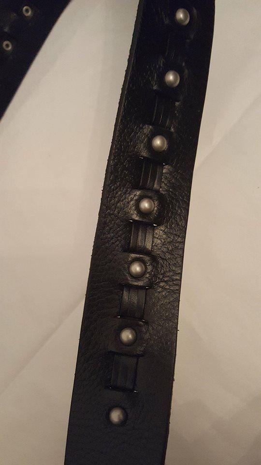Ralph Lauren Women's 1-5/8-in Woven Leather Belt with Antique Brass Buckle