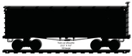 Train Car Silhouette Laser Cut Out Of Metal 9.5x23.5 - $25.74