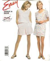 McCalls Pattern 2173 Sizes 16 - 22 Top Shorts or Skort Easy Stitch 'n Save Uncut - $8.90