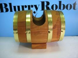 Spaulding & Frost Wooden Barrel Countertop Toothpick / Mint Holder - $6.33