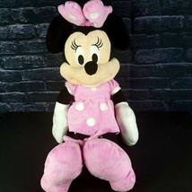 "Disney Plush Minnie Mouse 23"" Stuffed Animal Pink Spotted Bow Dress Just... - $16.82"