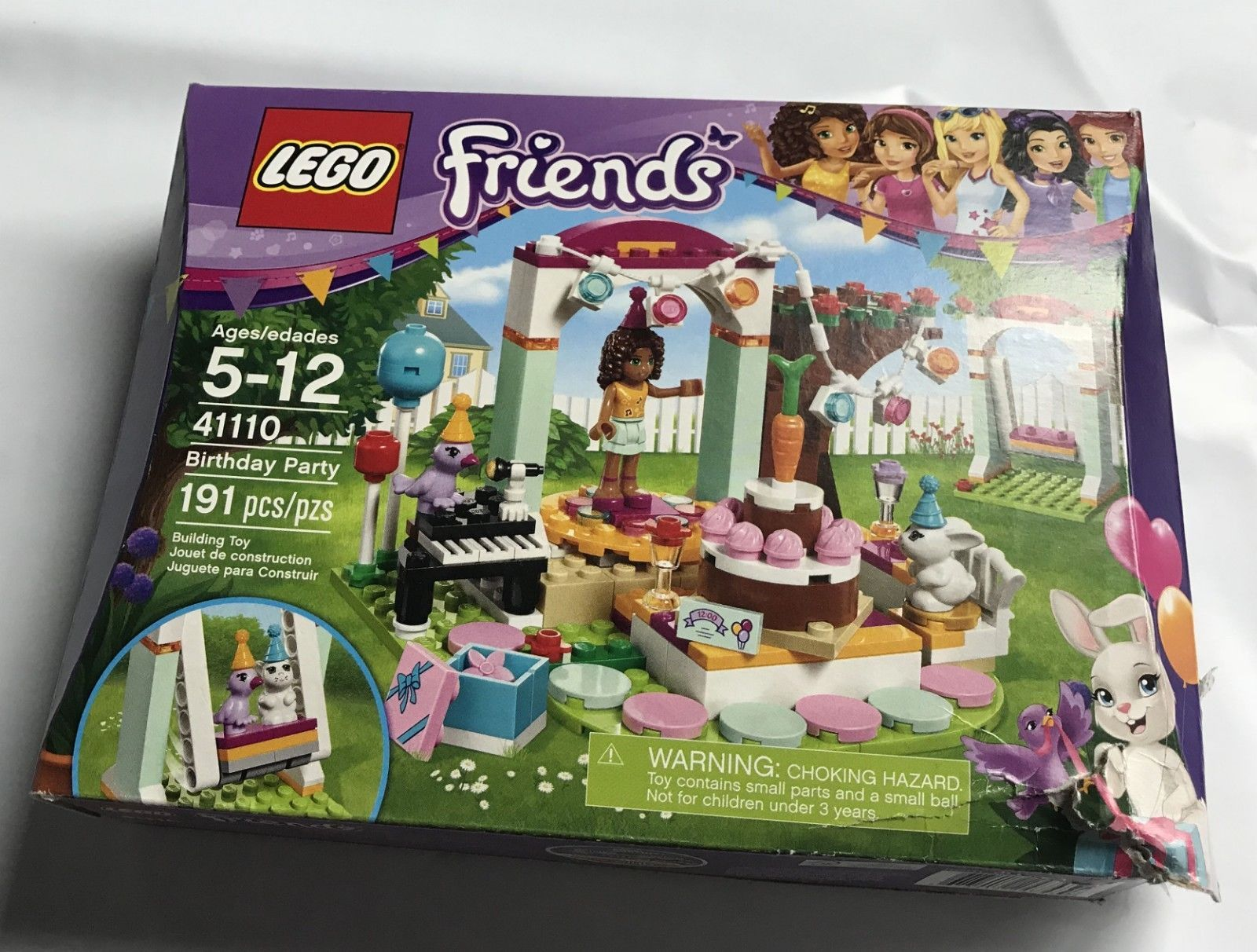 NEW Lego Friends 41110 Birthday Party w/ Andrea 191 pcs 2016 Building Toy