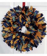 "NOTRE DAME  Fighting Irish 16"" Ribbon Wreath Custom Made For Each  Fan - $40.00"