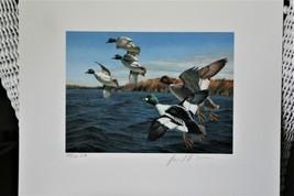 1987 4th Chesapeake Bay Conservation Stamp & Print > Goldeneys Limited ... - $84.15