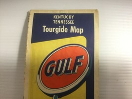 Vintage Kentucky Tennessee Tourgide Map 1950s Great Smokey Mountains Gul... - $5.95