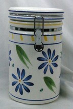 Certified International Corp Blue Flowers Flour Canister - $11.77