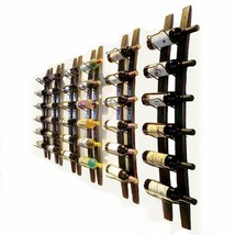 Wall Mounted Wine Rack Barrel Stave Hanging Wooden Wine Rack Handcarved ... - $80.56