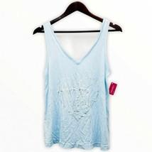 "Xhilaration Women's Sz Small V-Neck Straps Sleeveless Graphic ""Get It Gi... - $7.67"