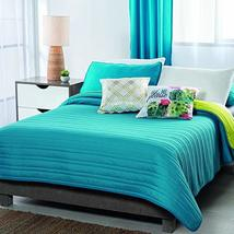 Blue and Green Textured Basic Reversible Comforter Queen Size Soft and Warm - $77.22