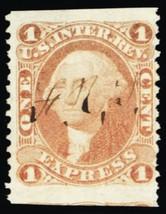 R1b, Scarce 1¢ Part Perf Express Stamp Cat $55.00 - Stuart Katz - $35.00
