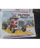AMT Peterbilt 359 California Hauler Conventional Cab 1/25 scale  - $74.99