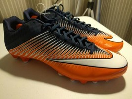 Nike Vapor Speed 2 TD Football Cleats Shoes Men's Size 15 Orange Navy  - $13.98